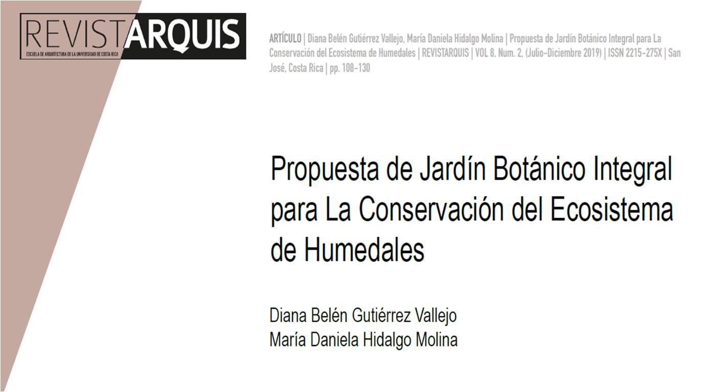 """Portada texto """"Propuesta de Jardín Botánico Integral para la conservación del ecosistema de humedales"""""""