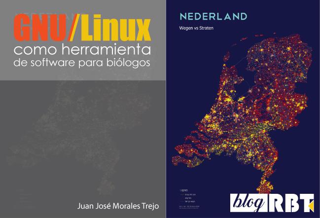 Mapa de calles y caminos de los Países Bajos creado en QGIS. Harry Bronkhorst (CC BY-NC-SA 2.0)