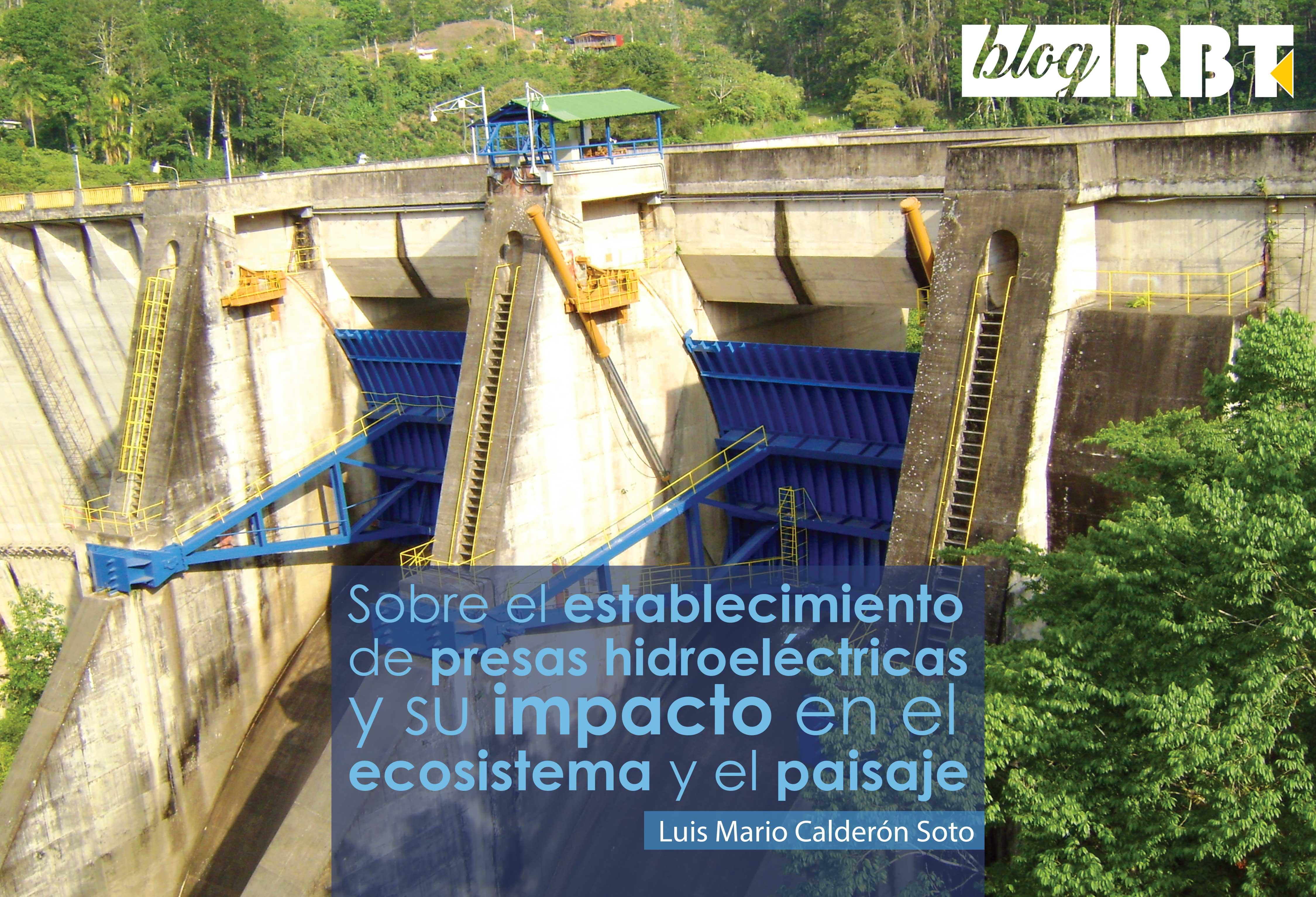Vista cercana de la represa hidroeléctrica Cachí, provincia de Cartago, Costa Rica. Fotografía (Dominio público)