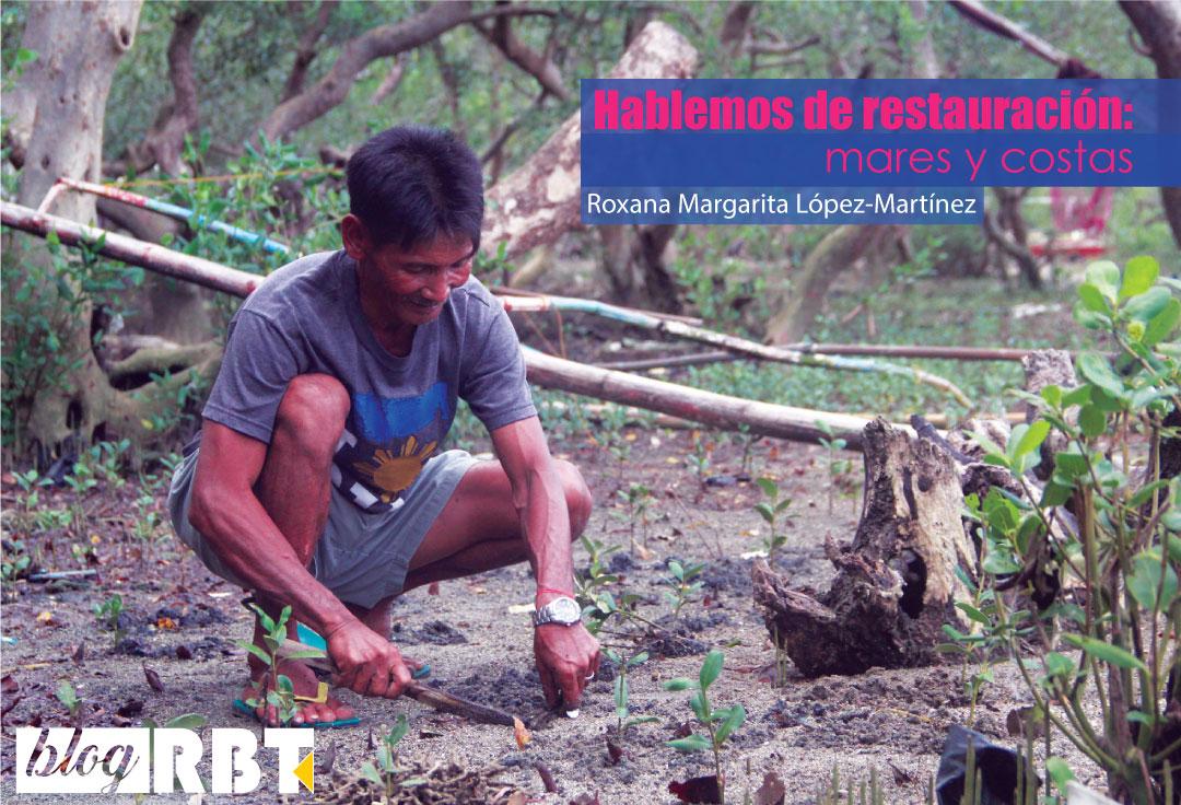 Efren Nojor, un pescador de Guinayangan, colabora con la restauración del manglar en las Filipinas. Fuente: CCAFS/Amy Cruz (CC BY-NC-SA 2.0)