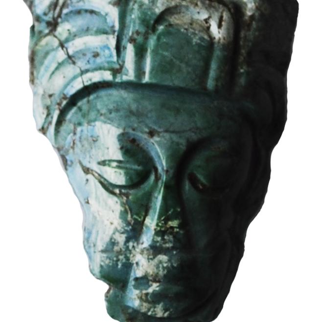 Figurilla, en jade, encontrada en Cacuén