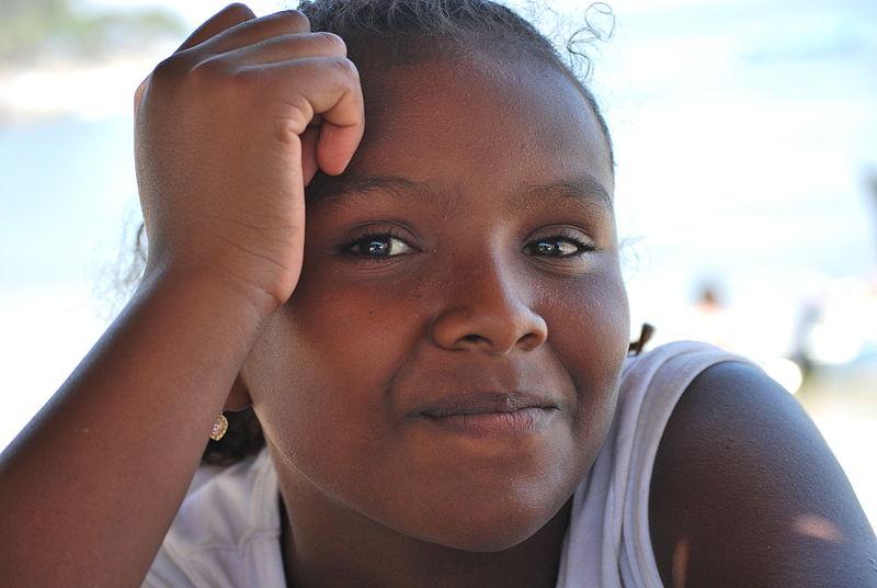 """AfroMexican girl at Punta Maldonada, Cuajinicuilapa, Guerrero"" https://es.wikipedia.org/wiki/Archivo:PuntaMaldonada66.JPG"