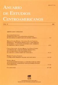 Anuario de Estudios Centroamericanos, Vol. 31 (2005)