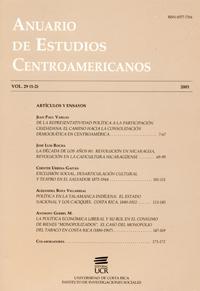Anuario de Estudios Centroamericanos, Vol. 29 (2003)