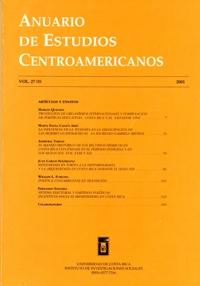 Anuario de Estudios Centroamericanos, Vol. 27, No. 1 (2001)