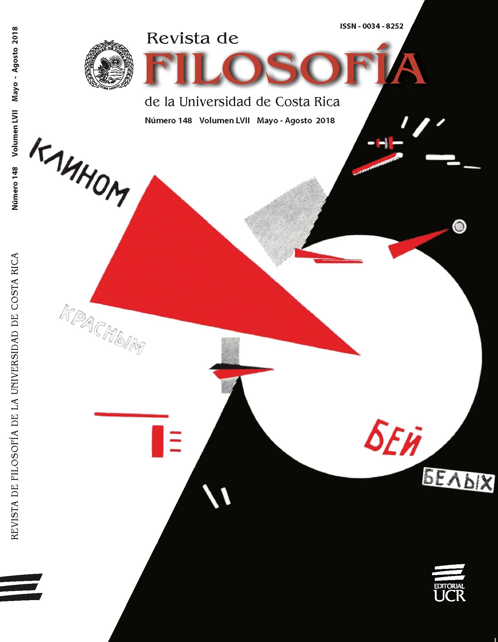 Portada Revista de Filosofía UCR  Vol LVIII No 148