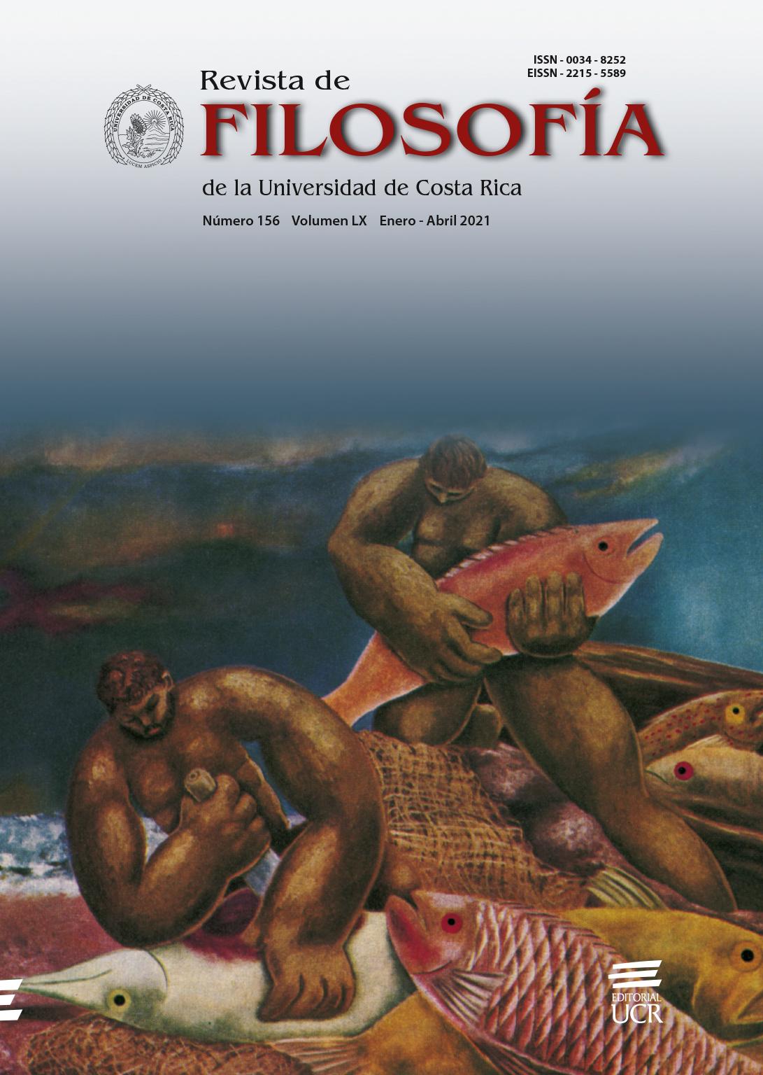"""Portada de la revista de Filosofía de la Universidad de Costa Rica, en imagen """"pescadores de Cojimar"""""""