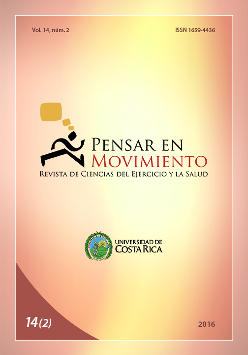 Pensar en Movimiento Volumen 14(2)